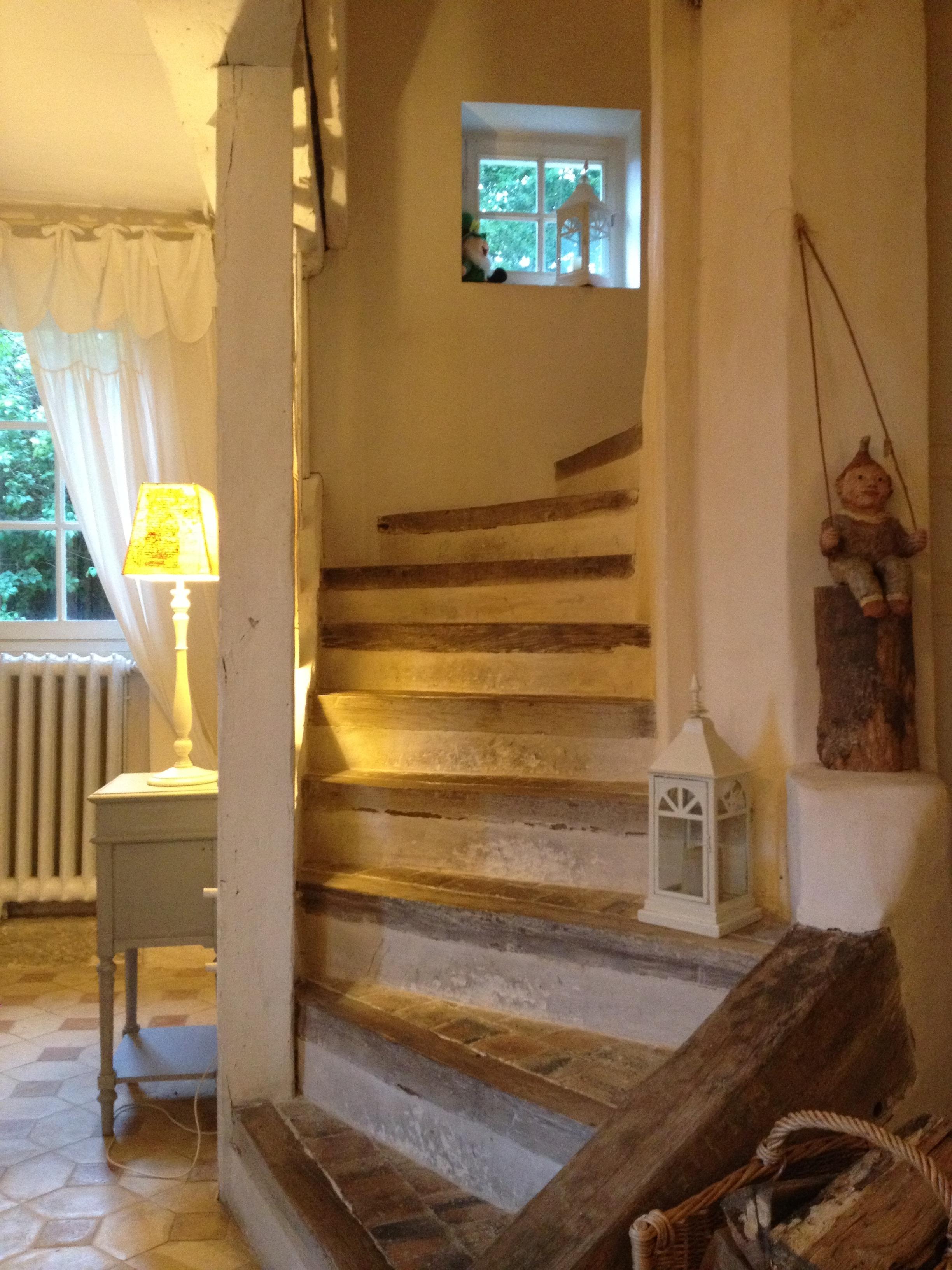 Treppe zu den Gästezimmern