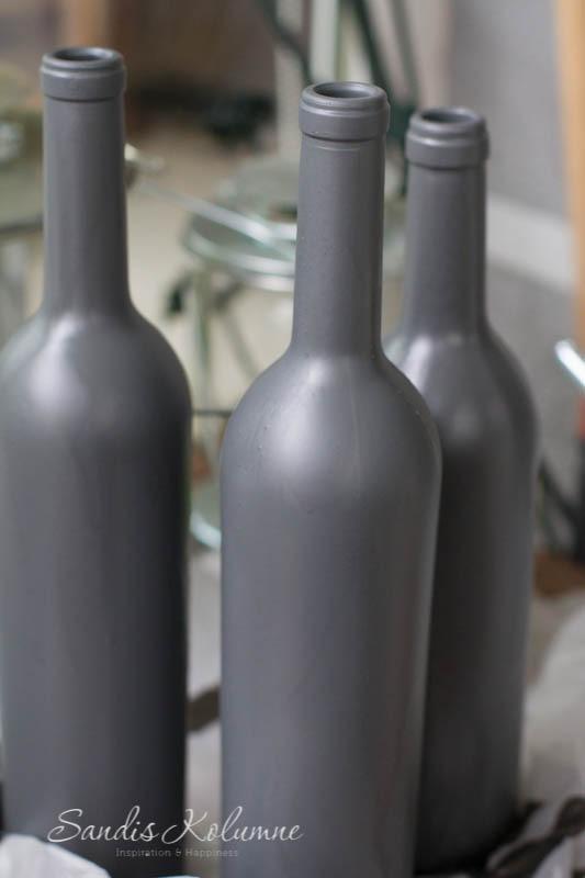 Weinflaschen mit Kunststoffspray 4