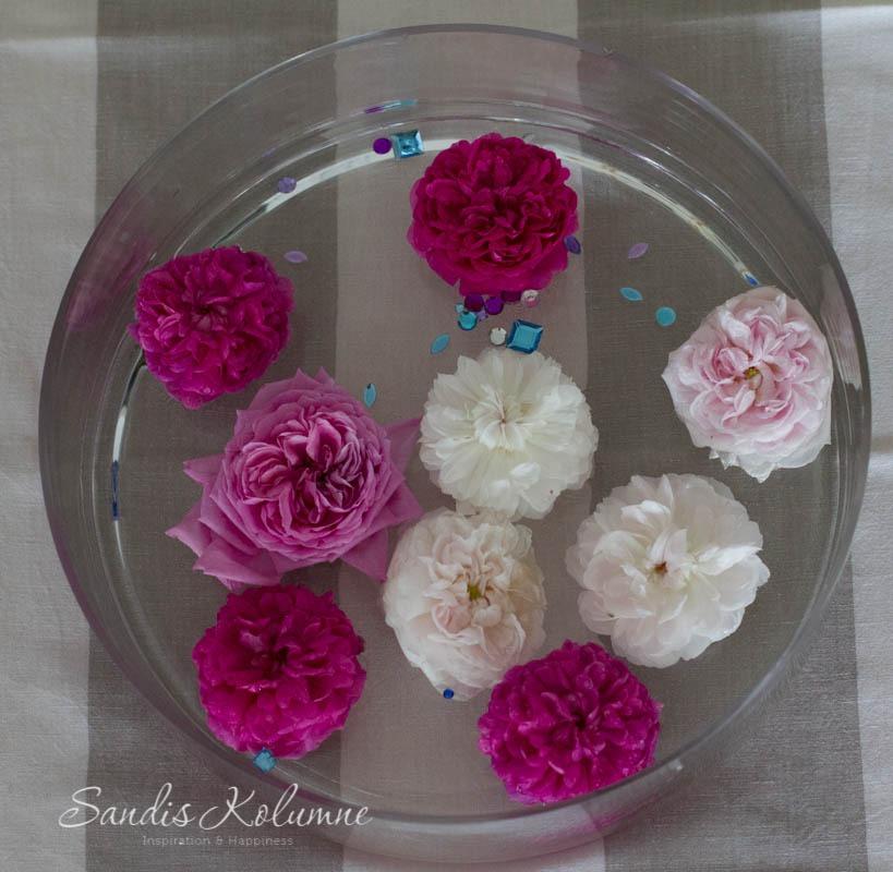 Schwimmende blin bling Blumen