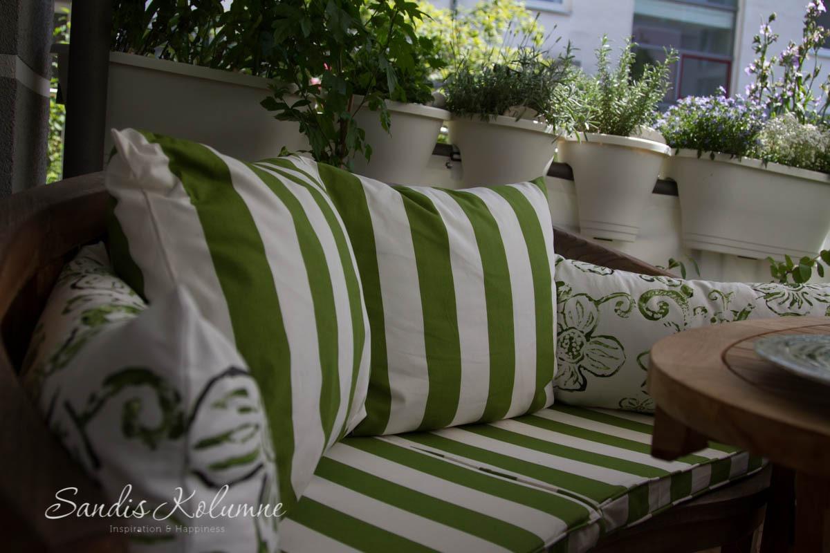Terrassenkissen grünweiß