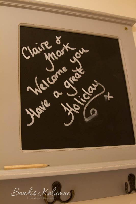 Willkommensschild von Claire & Mark