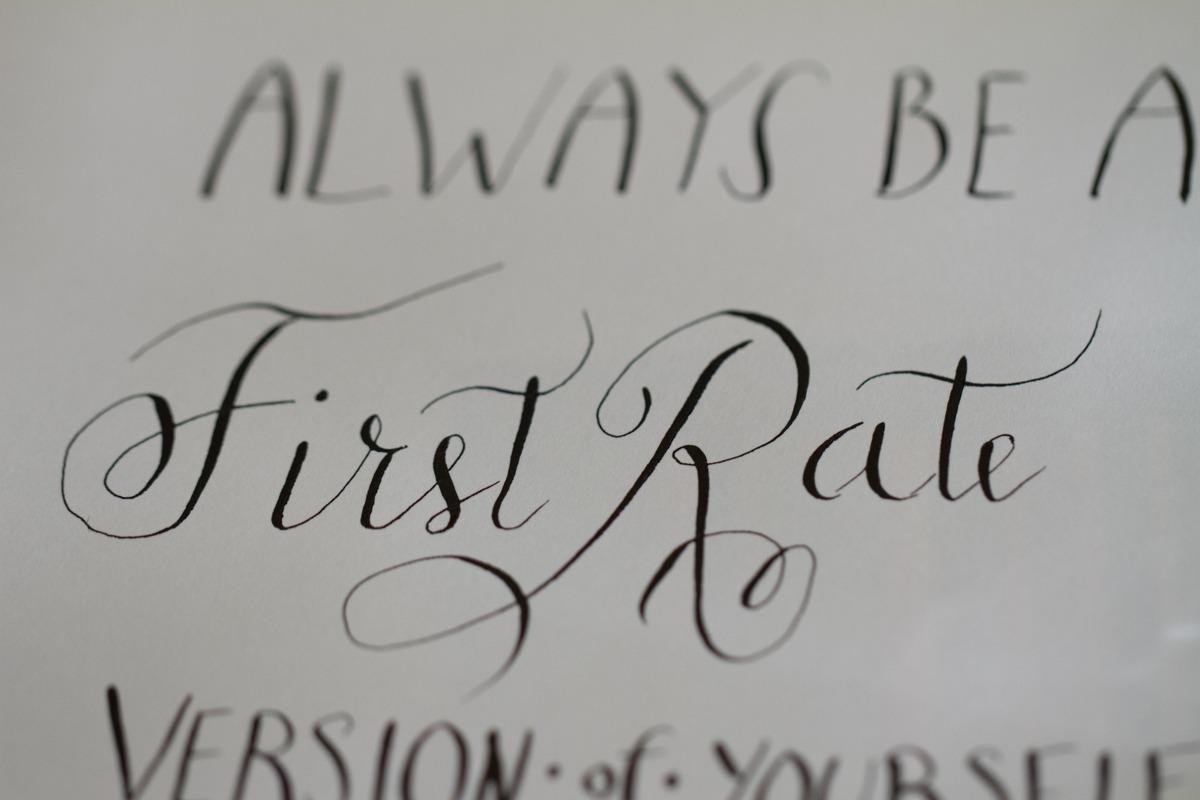 Kalligrafiestart 14