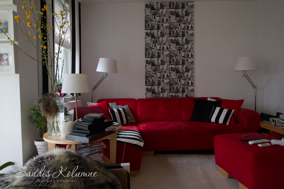 welche farbe welches muster f r das wohnzimmer der keilrahmen trick sandis kolumne. Black Bedroom Furniture Sets. Home Design Ideas
