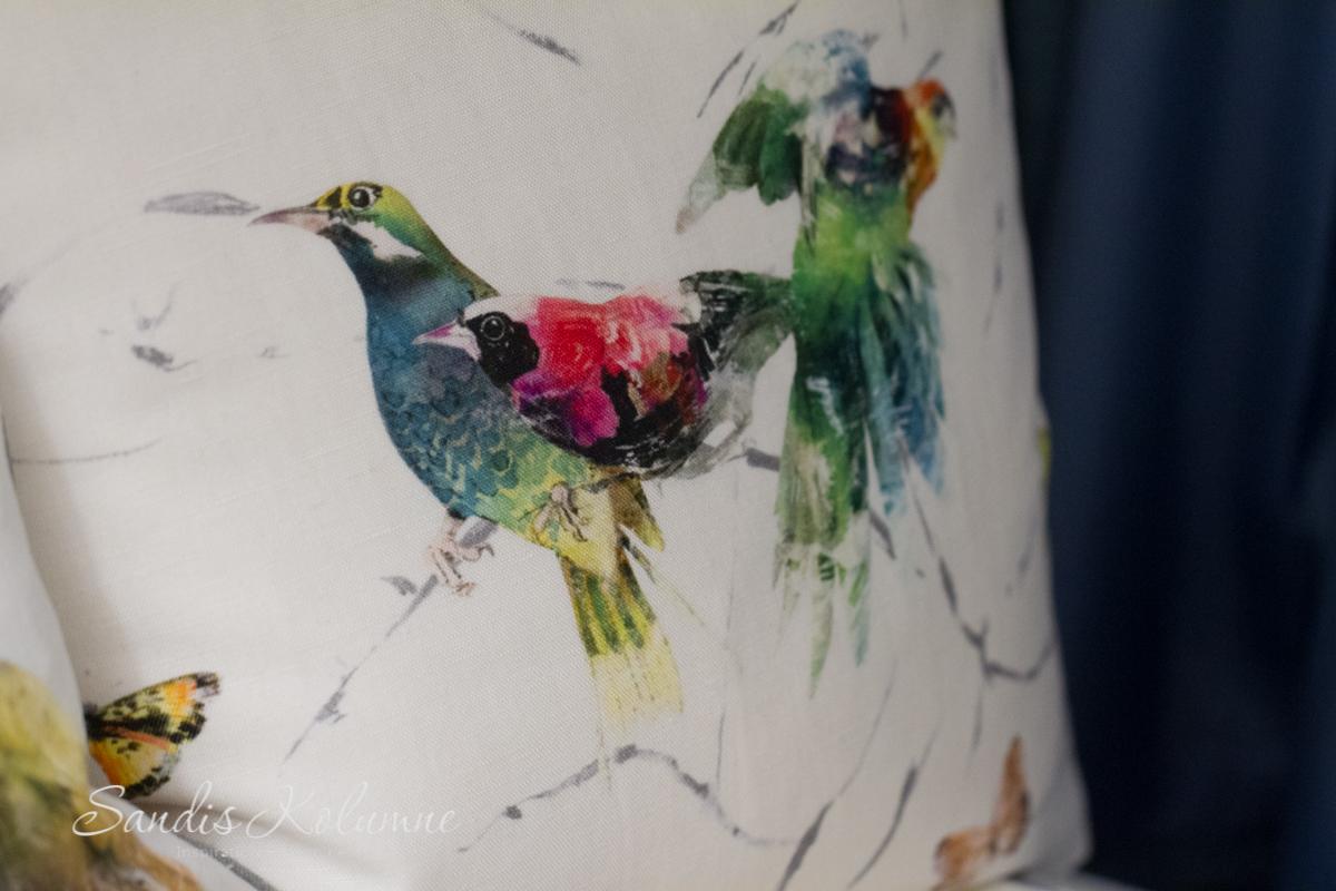 Chivasso-Kissen Vögel