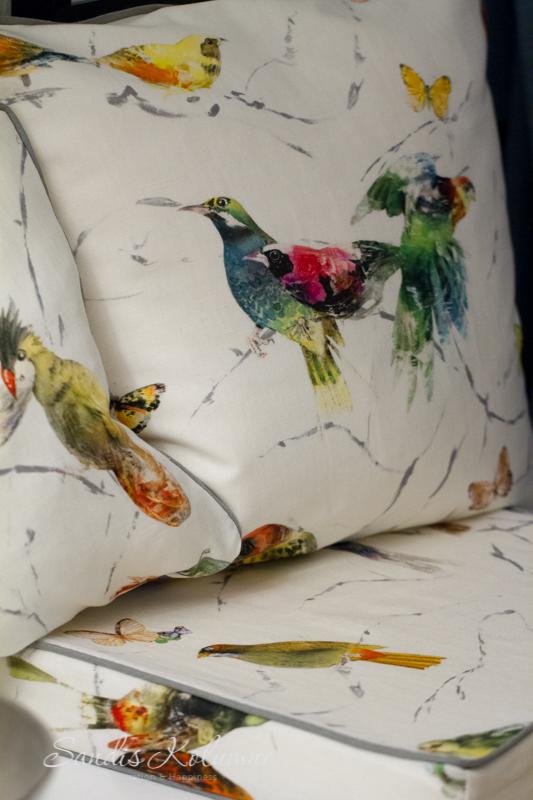 Chivasso-Kissen Vögel 2