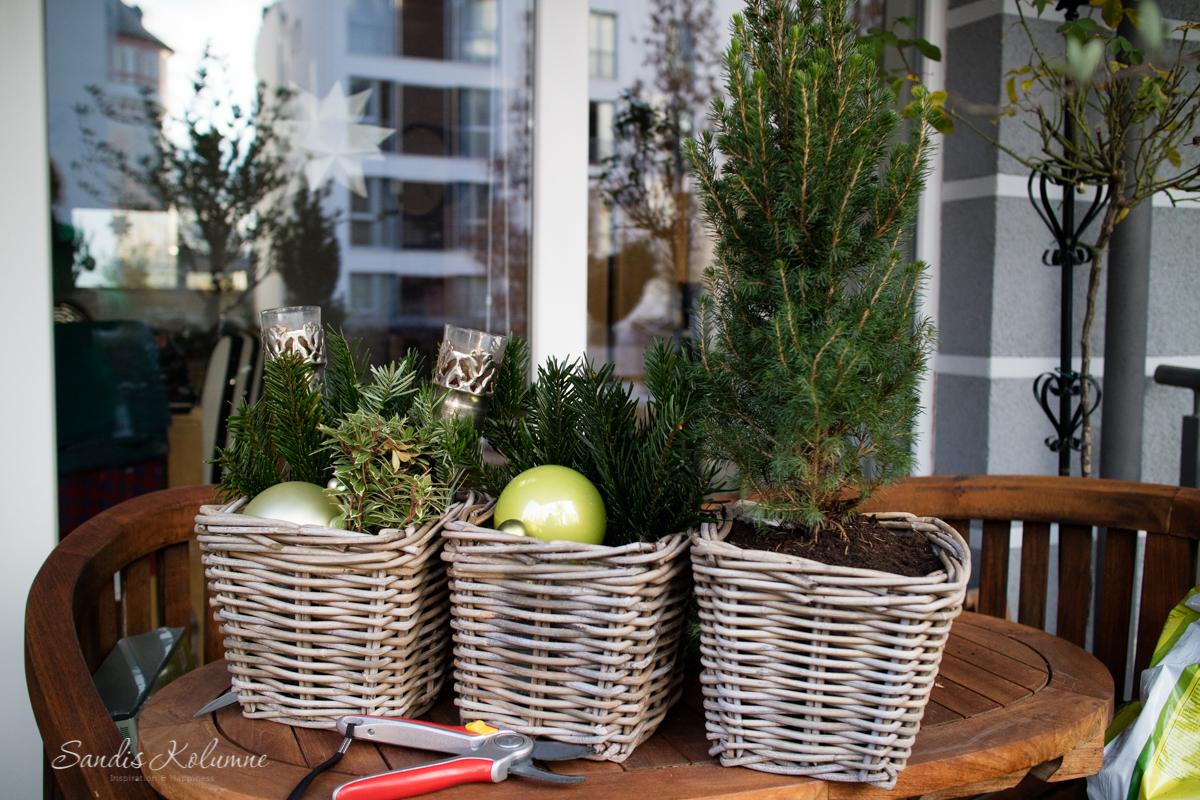 Adventsdeko Terrasse und Garten 2015 2