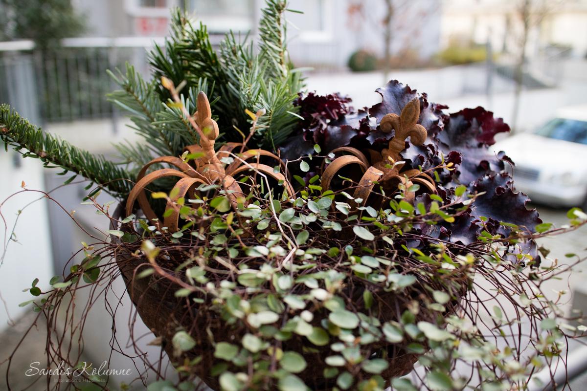 Adventsdeko Terrasse und Garten 2015 5