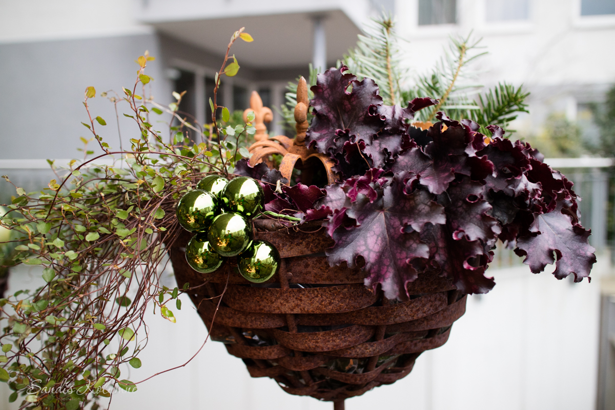 Adventsdeko Terrasse und Garten 2015 14
