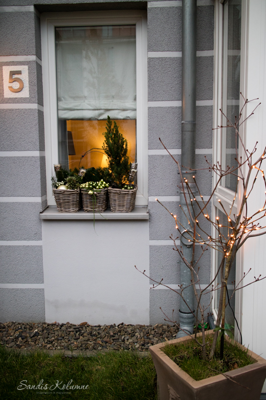 Adventsdeko Terrasse und Garten 2015 16