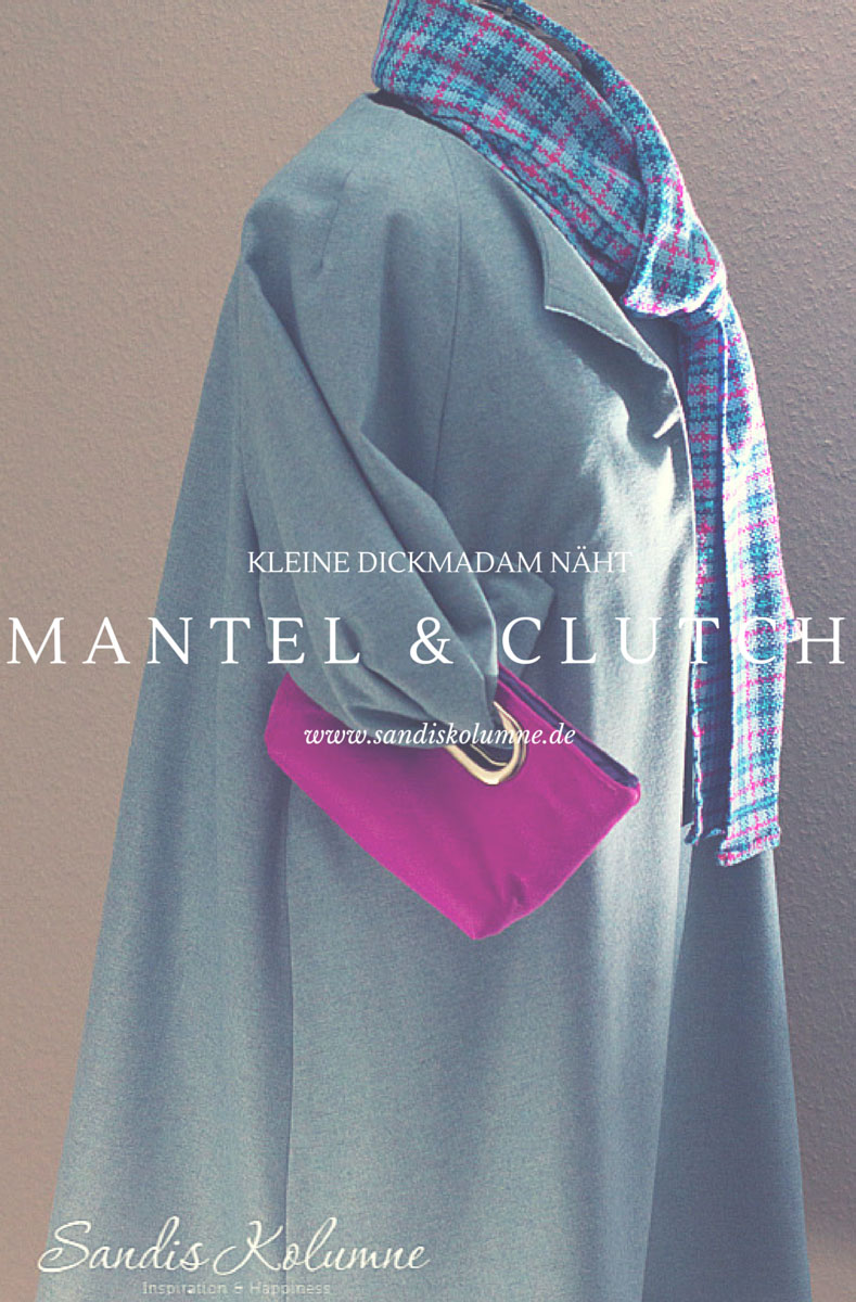 Mantel und Clutch