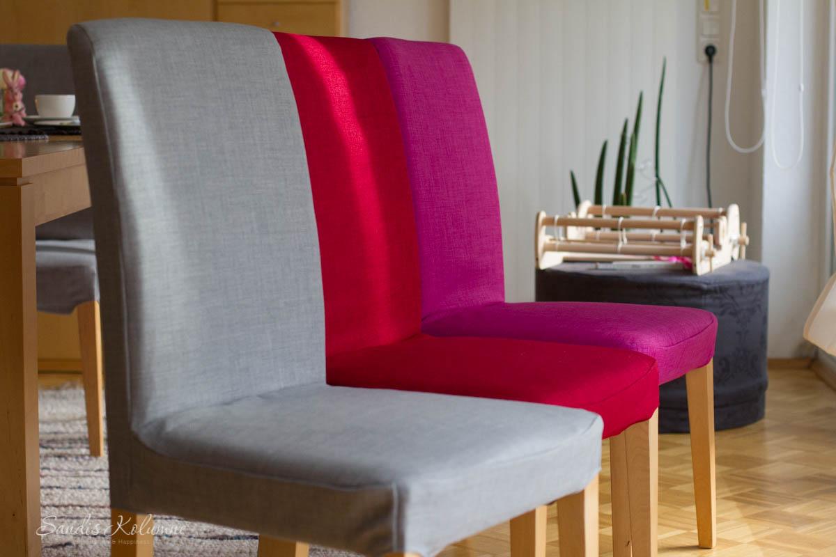 Häufig Farbenrausch im Wohnzimmer: Stuhlhussen, Tischsets und Wanddeko AQ36