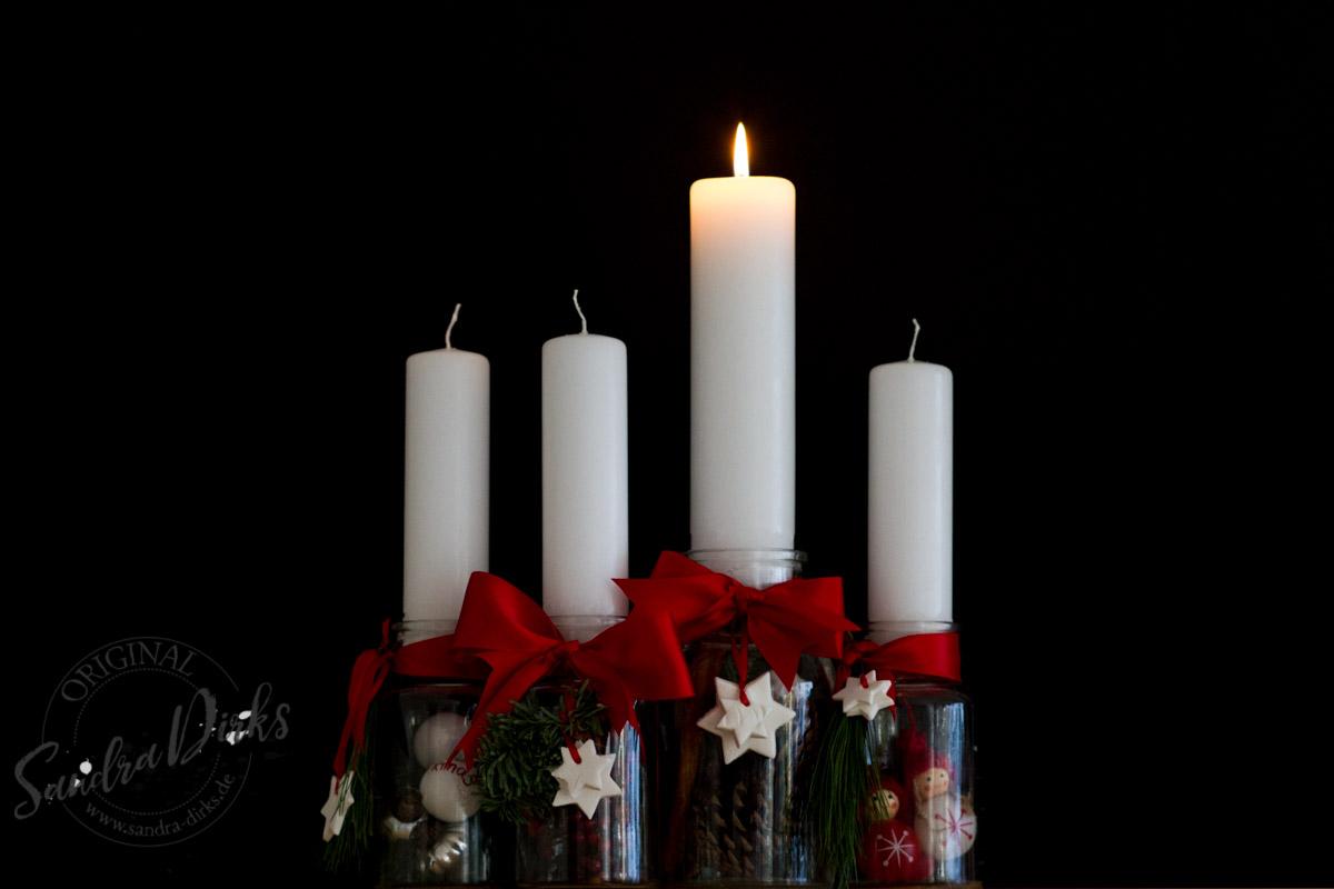 Sandra Dirks - gefüllte Flaschen zum Advent