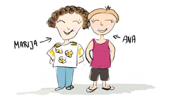 Sandra Dirks - Zeichnung: Tante Ana und die Schwiegermutti