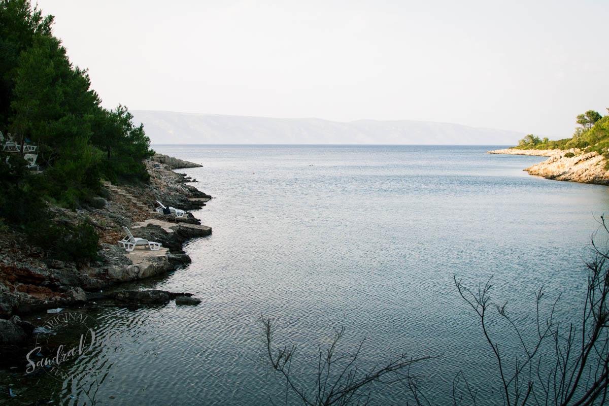 Sandra Dirks - Vila Rosa Hvar Badebucht Blick aufs offene Meer