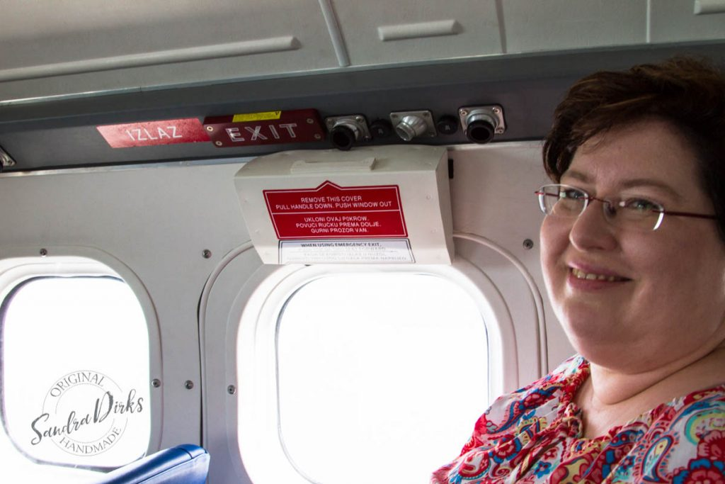 Sandra Dirks - von Jelsa nach Split mit dem Wasserflugzeug Sandra not amused