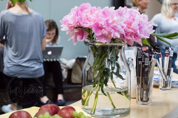 Sandra Dirks - Blogst Barcamp Obst, Blumen und Schokolade