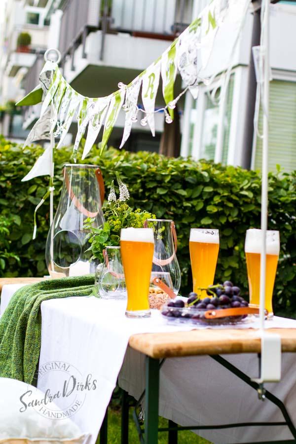 Sandra Dirks - Dekoidee mit Tafelklem und Bier im Minigärtchen
