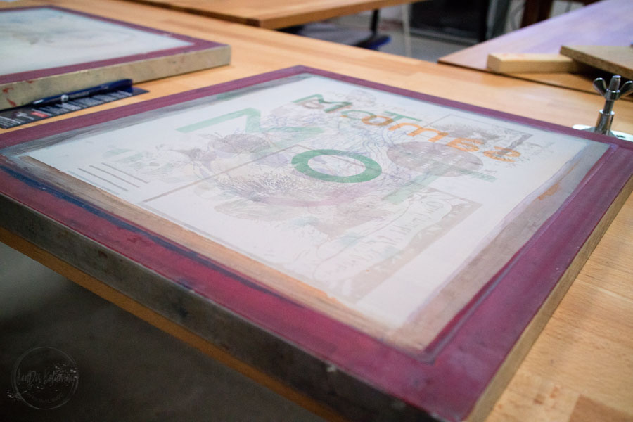 Sandra Dirks - Siebdruck Workshop im Protohaus