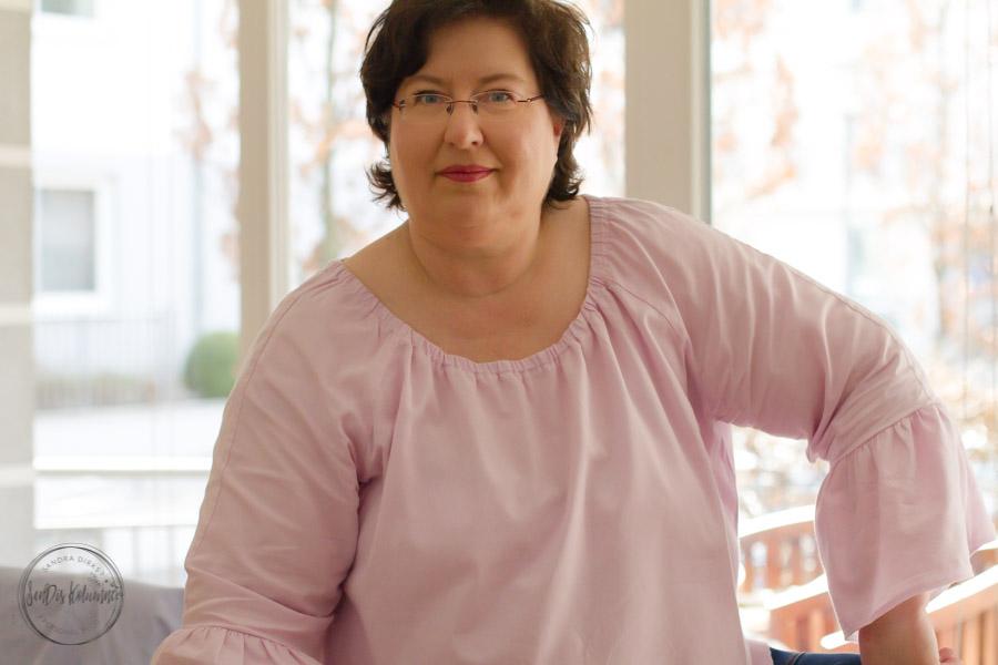 Sandra Dirks - Selbstgenähte Trompetenärmel-Tunika
