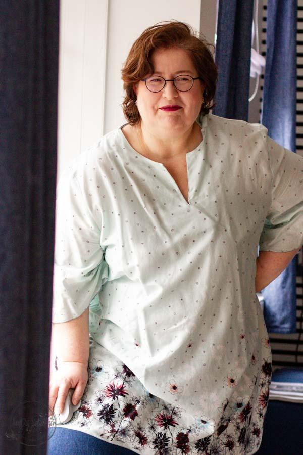 Sandra Dirks - MeMadeMittwoch - hellgrüne Tunika
