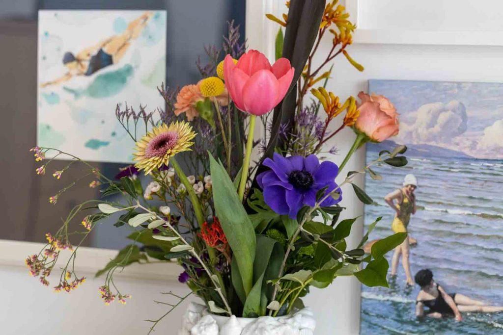Sandra Dirks - FlowerFriday mit buntem Blumenstrauß Detail