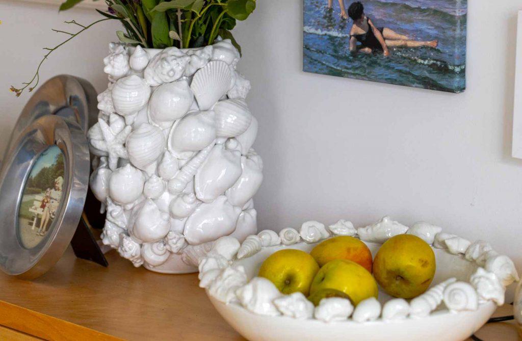 Sandra Dirks - FlowerFriday mit Muschelvase und Muschelschale
